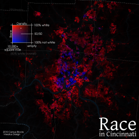 map of race in the cincinnati metro