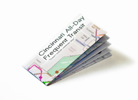 The Cincinnati transit map sits on a white background